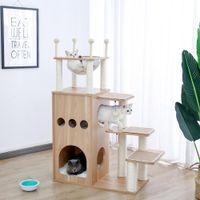 Кошка поднимается активность дерева царапин Китти башня мебель Pet Play House