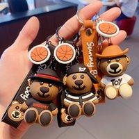 Keyring Keychain 2021 teddy bear doll key chain car pendant lovers net red creative small gift