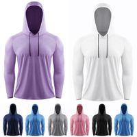 2021 Мужская футболка Yoga Lulu Europe US Runse Hoodie Fitness Одежда Быстросохнущая Tee Sportswear Длинные рукава Компрессионные Обучение Упражнение Тонкие Колготки Топы