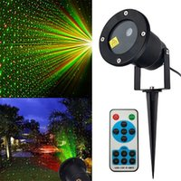 Outdoor Laser Landscape Light Projection Moving Star Christmas Projector Garden Party Disco DJ LED Stage IP65 Lawn Lamps