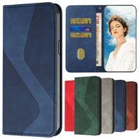 2021 마그네틱 가죽 케이스 NA 삼성 갤럭시 S21 FE S 21 Plus S30 Ultra S21FE 5G Funda Skin Fellet Wallet Cover S Pattern Coqu
