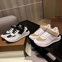 Ronnie-Check-Low-Top-Schuhe ITALIEN Designer Vintage Sneakers Logo Drucken Gurtleder Luxurys Runner Trainer Lace-up Front Befestigung Knöchel Beige Beiläufige Schuh 36-45