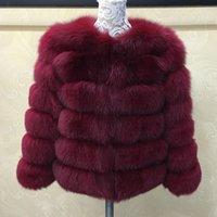 Tatyana Furclub Véritable manteau de fourrure naturel pour femme veste fille hiver rose rose ôille manches longues style de rue