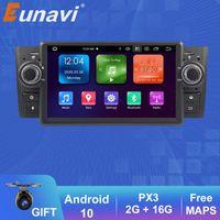 Eunavi 1 DIN 7 '' Quad Core Android 10 автомобиль DVD-плеер стереосистема радиосистема GPS Navi для Linea Grande Punto 2007-2012 USB BT