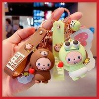 Подлинная мультфильм корона обезьяна ключ цепь автомобиль кулон девушка сердце милый биксин беседка творческий подарок