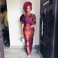 Aso Ebi Prom Dresses Lace Appliques See Through Evening Gowns Saudi Arabia Robe De Soiree Formal Party