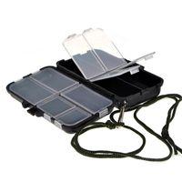 Fishing Accessories Mini Tackle Boxes Fish Lures Hooks Baits Plastic Storage Holder Square Case 11*6.5*3.5cm
