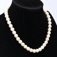 Elegante marfil de marfil blanco imitación perla de agua dulce collares para mujeres Joyerly 1970 Q2