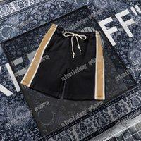 21SS Mens Designer Beach corto pantaloni nastro riflettente uomo pantalone doppia lettera lettere casual pantaloni nero