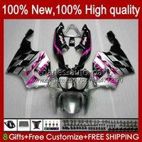 Body Carrosserie voor Kawasaki Ninja ZX7R ZX750 ZX-7R ZX 7 R ZX 750 NIEUW 28HC.111 ZX 7R 96 97 98 99 00 01 02 03 ROSE ZILVERY ZX-750 1996 1997 1998 1999 2000 2001 2002 2003 Fairing Kit
