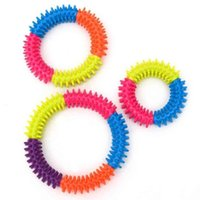 Silicone Spiky Sensory Ring Fidget Toys Finger Decompression Toys Fashion Bracelet Stimulating Massage Stress Anxiety Relief Squeeze HH411Z7