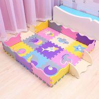 25 stücke Kinder Spielzeug EVA Kindermatte Foam Teppiche Weiche Bodenmatte Puzzle Spielmatte Boden Entwicklung krabbelnde Teppiche mit Zaun 2082 Q2