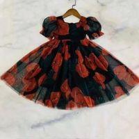 2021 Le nuovissime ragazze molto belle vestito per bambini moda ragazze partito abito manica corta flower bambini ragazze abbigliamento