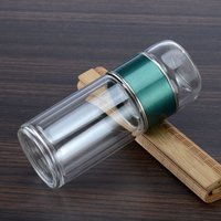 LDFCHENNEL 280ML Double Wall Glass Water Bottles Tea Infuser Filter Tea Separation Tumbler Tea Cup Travel Drinkware Glass Bottle 972 R2