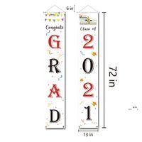 2021 Graduation Saison Couplet Party Dekoration Banner Türvorhang Poster Hängende Flagge Unterstützung Anpassung FWD5634