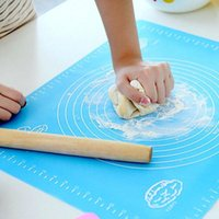 Mats & Pads 40X30 Non-stick Silicone Kneading Dough Mat Cookie Pastry Baking Sheet Kitchen Table Rolling Tools