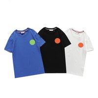 Monclair Mens de luxo camisetas Designer de verão homens s camisa tendência de moda mulheres de algodão puro respirável lapela de manga curta