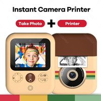 Kids Instant Digital Print Camera With Thermal Po Paper Toys 1080P 2.4in For Christmas Birthday Gift Girl Boy Printers