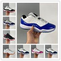 J 11 Mens Basquete Sapatos Olímpicos Jogos Olímpicos 25 Aniversário Baixo Legenda Universidade Azul Preto Branco Criado Concord Pantone 11s Cap Vestido Mulheres Esportes Sneakers Men Treinadores