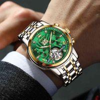 Tasarımcı Lüks Marka Saatler Otomatik erkek ES Üst Erkekler Yeşil Mekanik Bilek Su Geçirmez Reloj Hombre 9910