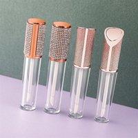 الجملة 5 ملليلتر حاويات زجاجات شفافية فارغة الماس اللؤلؤ الشفاه تأمين الأنابيب أحمر الشفاه الصقيل lipbalm