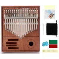 Tuner Hammer Müzik Kitap Koruyucu Çanta ile 17 Tuşları Başparmak Piyano Kalimba (Retro Stil)