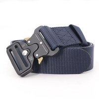 Belts Mens Tactical Belt Military Nylon Canvas Outdoor Multifunctional Training Quick Release Strap Buckle Breathable Women