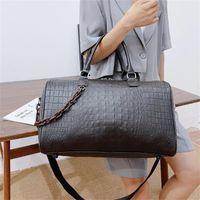 Duffel Bags Women Travel Alligator PU Duffle Luxury Designer Large Capacity Overnight Bag Casual Suitcase Luggage Handbag