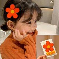 Saç Aksesuarları 2 Adet / takım Chilren Sevimli Renkler Akrilik Çiçek Süs Klipler Bebek Kız Güzel Alaşım Barrettes Tokalar Çocuk