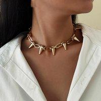 Высокое качество Кубинские алюминиевые цепи ожерелье для женщин мужчины старинные золотые цвет кисточки кулон колье Ожерелья друзей шеи ювелирные изделия