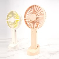 Electric Fans Summer Portable Mini Fan USB Rechargeable Handheld With Base Mobile Phone Bracket Desktop For Travel Outdoor Home