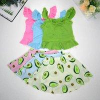 قطعتين أطفال ملابس السباحة الدعاوى الطفل السباحة الفتيات ملابس السباحة الاستحمام الطفل ملابس الصيف الفواكه مجموعات B5931