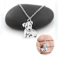 Собака милая Джек Рассел терьер Фокс подвеска для женщин из нержавеющей стали длинные цепные ожерелье детские студенческие украшения