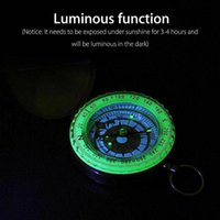 Outdoor Gadgets Clamshell Compass With Luminous Pocket Watch Metal Portable Measuring Tool Ruler Multi-function B0T7