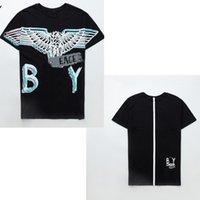 Hochwertige Männer T-Shirts, Damen Tops, High-End Eagle Wings Bronzing Druck Männer und Frauen Gleiche Stil Paare Kurze Ärmeln B0101