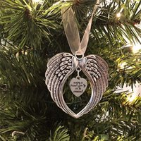 Sublimation Blanks Blanks Ornamento di Natale Decorazioni Angel Wings Shape Blank Aggiungi la tua immagine e sfondo 1045 B3
