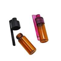 51 мм / 36 мм Стеклянная бутылка Snuff Snorter Dispenser Портативная пуля Snorter Plastic Plaial Pill Conta Conta Box с ложкой Несколько Цвет 422 R2
