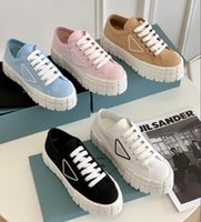 Designer frauen nylon casual schuhe gabardine klassische leinwand sneakers marke rad dame stylist trainer mode plattform solide höhen