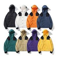 1990 Mens TNF 자켓 여성 노스 여자 카모 코트 생산 얼굴 후드 자켓 소년 편지 윈드 브레이커 지퍼 후드 남자 Sportwear 탑 의류 코트