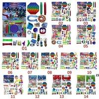 ¡Entrega rápida! Fidget Toys Christmas Blind Box 24 Days Adviento Calendario Amasado Música Cajas de regalo Cuenta atrás 2021 Regalos para niños CS15