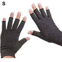 Cycling Gloves 1 Pair Compression Arthritis Women Men Joint Pain Relief Half Finger Brace Therapy Wrist Support Anti-slip Glove