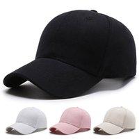 Fabbrica in magazzino in magazzino di cotone ordinario di cotone moda casual colore solido berretto da baseball con processo personalizzato logo personalizzato pubblicità cappello da sole