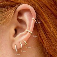Hoop Earrings Roxi 925 Sterling Silver for Small Rings Bone Aros Tiny Nose Ring Girl Aretes Ear Hoops A30