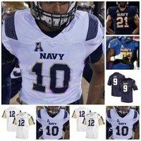 Custom 2021 Navy Midshipmen Football Jersey NCAA College 12 Roger Staubach 19 Keenan Reynolds 10 Malcolm Perry 43 Nelson Smith 20 CJ Williams 25 Tazh Maloy