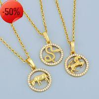 Nouveaux accessoires Chine Style 12 Zodiac Pendentif Collier Simple Diamond Animal Pull Sweater NKR97