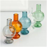 NOUVEAU Bouchon de bouchon en verre de verre de 25 mm avec bulle de verre coloré épais Pyrex Casquettes de glucides pour tuyaux de tabagisme de verre 449 R2