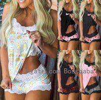 Frauen Home Anzug Designer Gedruckt Pyjama Anzug Sleeveless Hosenträger Top Shorts Zweiteiler Set Lady Fashion Casual Pyjamas 812