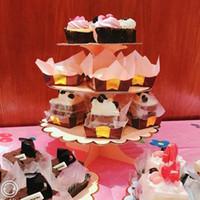 Andra festliga partier 1 födelsedagstårta stativ bord dekoration efterrätt cupcake dekor konsol pappershållare kartong bakverk bröllop 3-