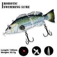 Robotic Fishing Hard Bait Bait Auto Elettrico Nuoto esclusivi Wobblers Swimbait Swimbait dell'elica 4-segmento USB ricaricabile