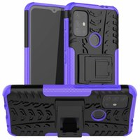 Dandy Cell Phone Cases Stand Rugged Combo Hybrid Armor Bracket Impact Holster Cover protettivo per Motorola Moto G30